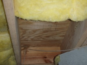 Insulation missing in crawlspace.