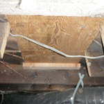 Several cut floor joist.